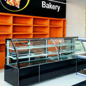 Marble Sliding Glass Door Cake Display Chiller for Bakery Shop pictures & photos