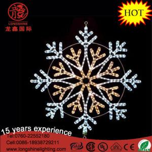 "LED 16"" Snowflake Blue Flashing Mounting Hanging Rope Motif Chritmas Light pictures & photos"