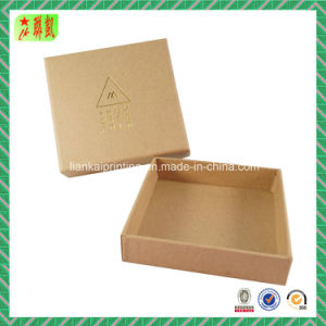 Gold Foil Stamping Kraft Two Piece Paper Gift Box pictures & photos
