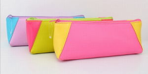 Promotion Double Color Stiching PU Cosmetic Bags