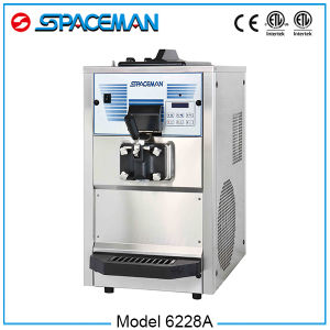 China Online Selling One Flavor Small Table Top Soft Serve Ice Cream Machine 6228A pictures & photos