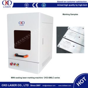 High Speed Laser Fiber Marking Machine for Ear Tag pictures & photos