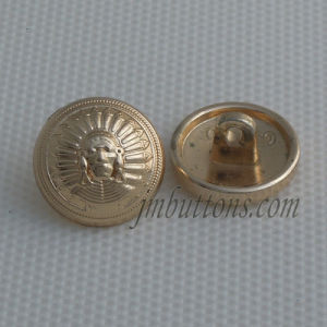 Fashion Design Fancy Gold Metal Button for Overcoat pictures & photos