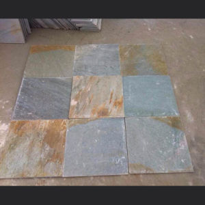 Natural Yellow/Green/Grey/Rustic/Black Quartzite Slate Tile pictures & photos