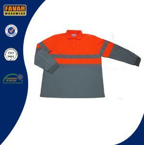 Wholesale Custom 100% Cotton Mens Long Sleeve Polo Shirt