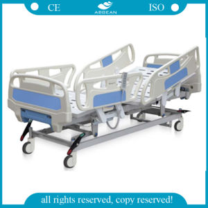 Hospital Use Five Function ABS Sick Patient ICU Bed (AG-BY005) pictures & photos