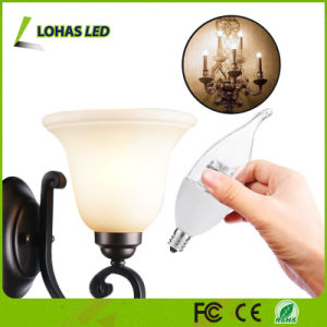 Flame Shape E12 6W Dimmable LED Candle Light Bulb pictures & photos