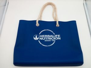 Waterproof Washable Silicone Beach Handbag Bag with Rope Handles pictures & photos