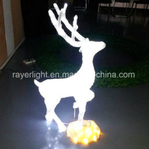 LED Christmas Light Outdoor White Lighted Reindeer pictures & photos