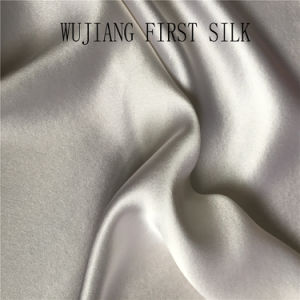 25mm 100% Natural Silk Charmeuse Fabric Solid Dyed pictures & photos