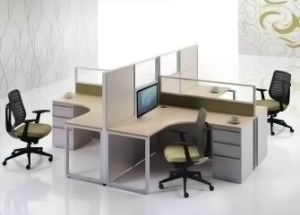 Modern Aluminum Glass Wooden Cubicle Workstation /Office Partition (NS-NW321) pictures & photos