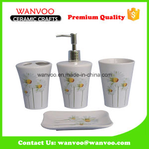 White Hotel Use Ceramic Bath Set Accessory for Bathroom Ensemble pictures & photos