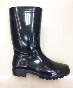 High Quality Japan Market Middle Cut PVC Rain Boots pictures & photos