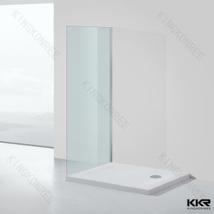 Solid Surface Anti-Skidding Durable Corner Stone Shower Base pictures & photos