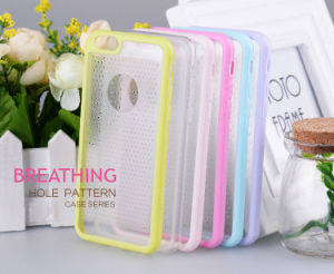 Dual Color Breathable Small Fresh TPU+PC Cell Phone Case for iPhone 6s/6 Plus