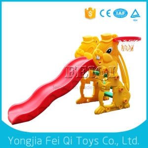 Top Quality Factory Price Plastic Parts Slide Baby Slide with Portable Basketball Stand pictures & photos