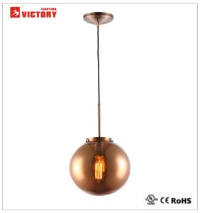 Round Amber Glass Modern Popular LED Pendant Light Chandelier Lamp pictures & photos