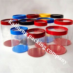 Promotional Gift Tubes Clear Pet Plastic Cylinder pictures & photos