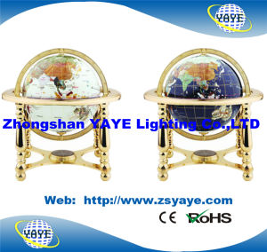 Yaye 18 Hot Sell White/Ocean Blue Color Gemstone Globe/ World Globe with Gold Metal Stand pictures & photos