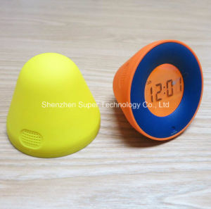Weight Sensor Warm Light Jelly LCD Digital Alarm Clock pictures & photos
