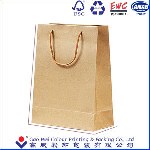Factory Direct Shopping Bags Brown Kraft Paper Bags Shopping Paper Bags pictures & photos