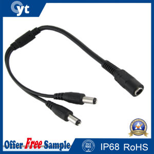 2 Way DC Plug Splitter Cable pictures & photos