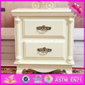 2017 Wholesale White Wooden Bathroom Storage Cabinets, High Quality Solid Wooden Bathroom Storage Cabinets W08h066 pictures & photos