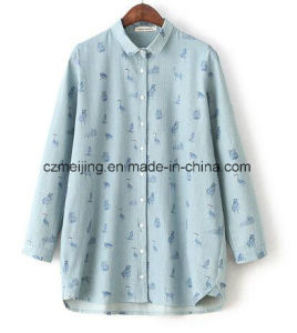 Printed Women`S Jeans Shirt