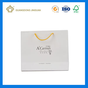 Custom Luxury Cheap White Paper Shopping Bag (Matt Lamination) pictures & photos