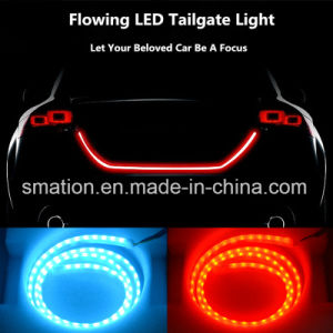 Car LED Rear Tail Box Case Flow LED Strip Turn Signal Brake Tailgate Tail Light pictures & photos