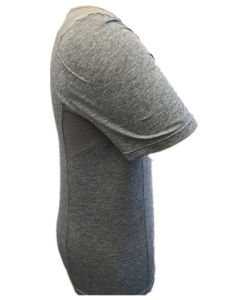 Men′s Knitted T-Shirt with Rounded Neck pictures & photos