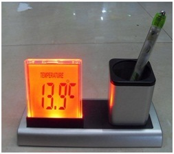 Colorful Calendar Pen Holder with Temperature Display pictures & photos