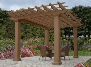 Made in China No Fading and Cracking WPC Gazebo pictures & photos