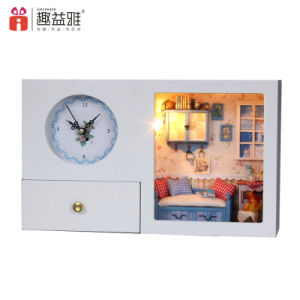 2017 White Home Decoration Clock Doll House pictures & photos