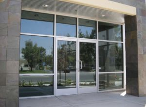 High Quality Customized Commercial Aluminum Storefront Doors and Windows pictures & photos