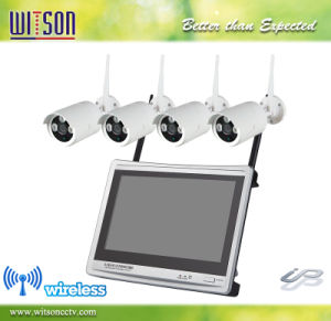720p 960p CCTV HD 12.5 Inch LCD Monitor Wireless WiFi IP Network Camera Kit pictures & photos