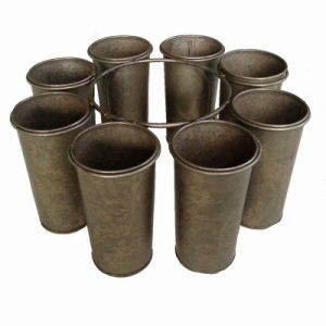 9 PCS of 1 Set French Tin Centrepiece Flower Pot pictures & photos
