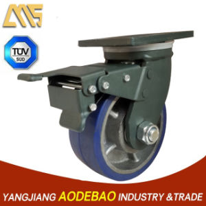 Extra Heavy Duty Double Brake Rubber Caster Wheel pictures & photos