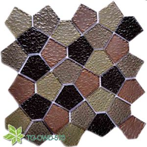 Strip Crystal Glass Mosaic Wall Tiles/Backsplash/Background Mosaic (TG-OWD-570) pictures & photos