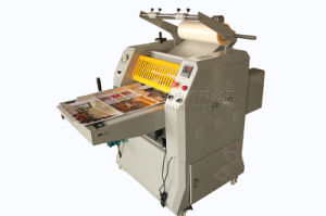 FM-520D hydraulic semi-automatic roll laminator with separator pictures & photos