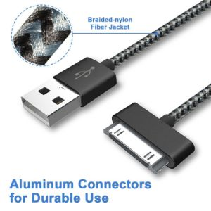 Nylon USB Charger Data Sync Cable for iPhone 4 / iPod pictures & photos