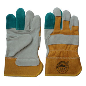 Cow Split Leather Work Gloves / Protective Gloves / Cut Resistant Gloves pictures & photos