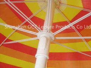 Stripe Design Beach Umbrella with Double Ribs pictures & photos