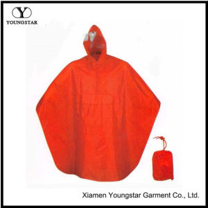 Promotional Waterproof PVC Rain Poncho for Motorcycle pictures & photos