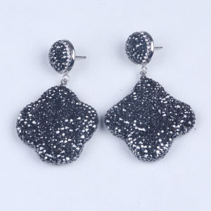 High Quality Gem Stone Druzy Earring pictures & photos