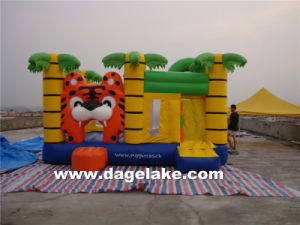 Inflatable Palm Tree Bouncy Castle with Slide Combo