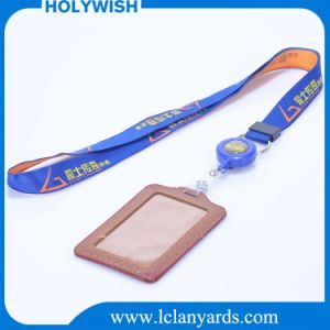 Promotion Strap Custom Jacquard Woven Lanyard with Retractable Reel Cardholder pictures & photos