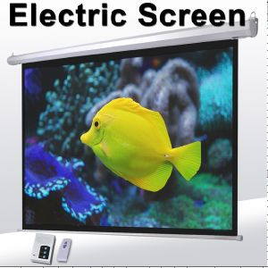 80 Inch Wall Mount Office Projector Matte White Electric Projection Screen for Vmax80uwv pictures & photos