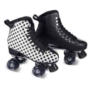 Soft Boot Quad Roller Skate for Adults (QS-46) pictures & photos