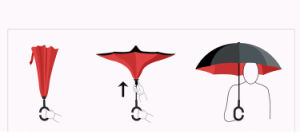 Dual Purpose Umbrella for Double Purpose Business Car with Reverse Personality and Straight Long Handle for Creative Automobile pictures & photos